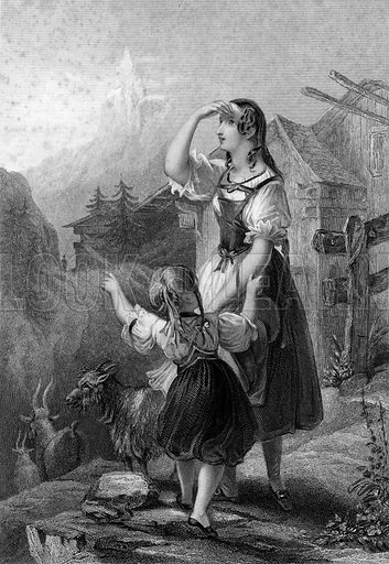 Jeanette la Suissesse. Illustration from The Gallery of Engravings edited by CH Timperley (Fisher, 1846).