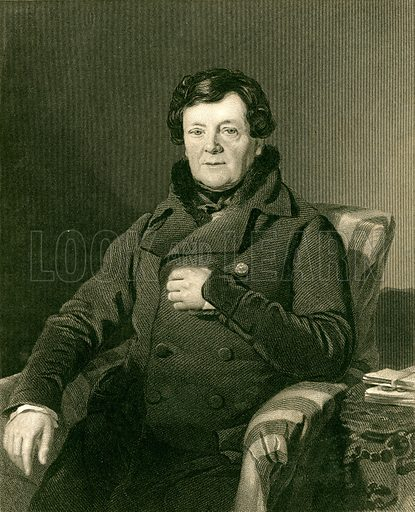 Daniel O'Connell. Illustration from The Gallery of Engravings edited by CH Timperley (Fisher, 1846).