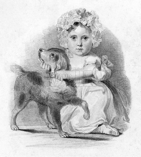 The faithful guardian. Illustration from The Gallery of Engravings edited by C H Timperley (Fisher, 1846).