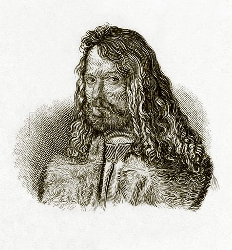 Albert Durer. Illustration for The Universal Historical Dictionary by George Crabb (Baldwin, 1825).