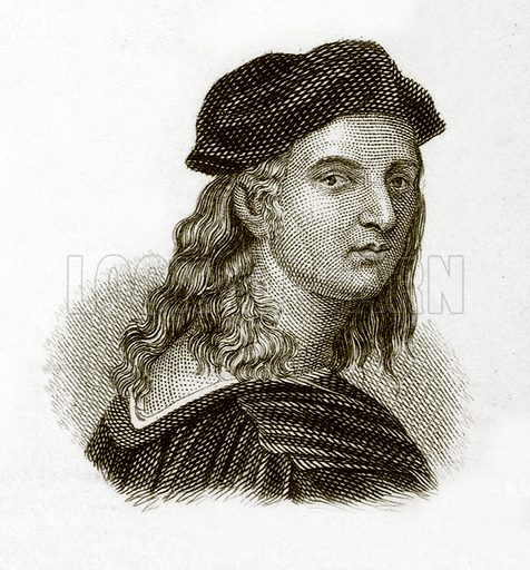 Raphael.  Illustration for The Universal Historical Dictionary by George Crabb (Baldwin, 1825).