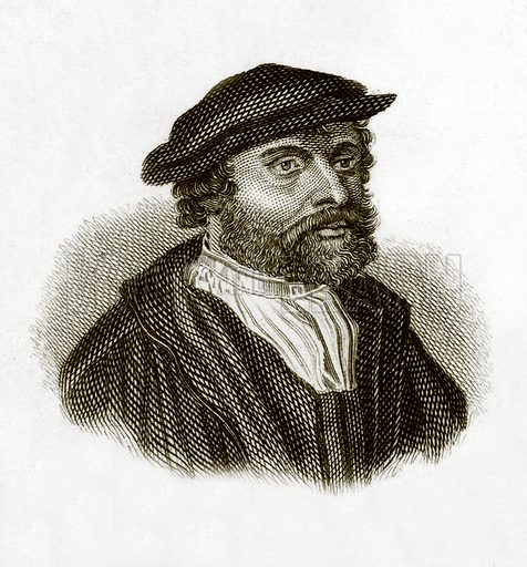 Holbein. Illustration for The Universal Historical Dictionary by George Crabb (Baldwin, 1825).