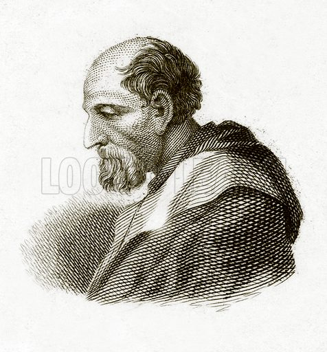 Corregio.  Illustration for The Universal Historical Dictionary by George Crabb (Baldwin, 1825).