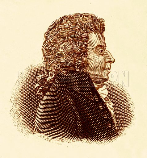 Mozart.  Illustration for The Universal Historical Dictionary by George Crabb (Baldwin, 1825).