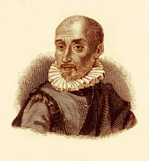 Montaigne.  Illustration for The Universal Historical Dictionary by George Crabb (Baldwin, 1825).