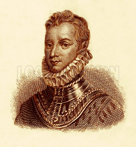 Sir Philip Sidney.  Illustration for The Universal Historical Dictionary by George Crabb (Baldwin, 1825).