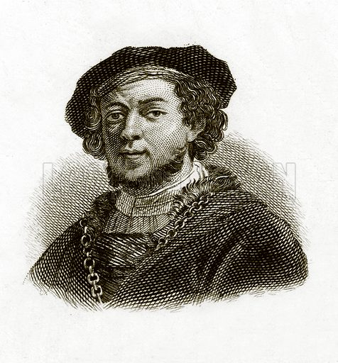 Rembrandt.  Illustration for The Universal Historical Dictionary by George Crabb (Baldwin, 1825).