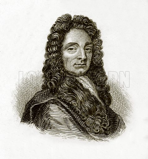 Sir Christopher Wren. Illustration for The Universal Historical Dictionary by George Crabb (Baldwin, 1825).