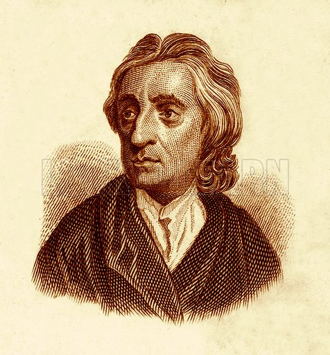 John Locke.  Illustration for The Universal Historical Dictionary by George Crabb (Baldwin, 1825).