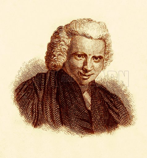 Laurence Sterne.  Illustration for The Universal Historical Dictionary by George Crabb (Baldwin, 1825).