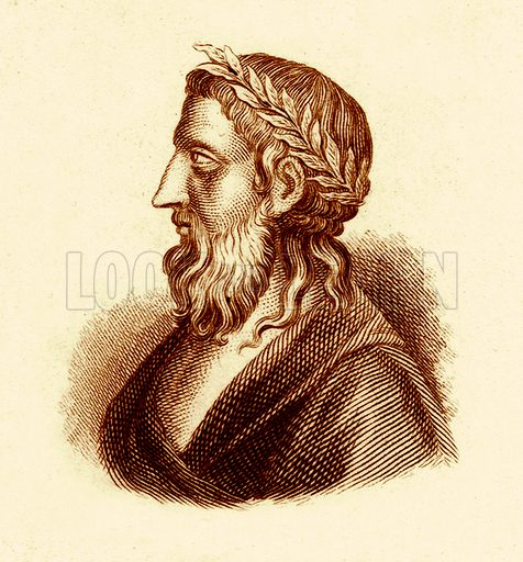 Anacreon.  Illustration for The Universal Historical Dictionary by George Crabb (Baldwin, 1825).