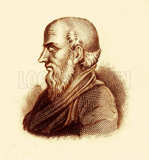 Philemon.  Illustration for The Universal Historical Dictionary by George Crabb (Baldwin, 1825).