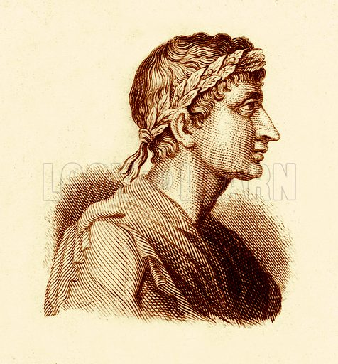 Ovid.  Illustration for The Universal Historical Dictionary by George Crabb (Baldwin, 1825).