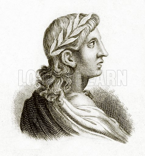 Virgil.  Illustration for The Universal Historical Dictionary by George Crabb (Baldwin, 1825).