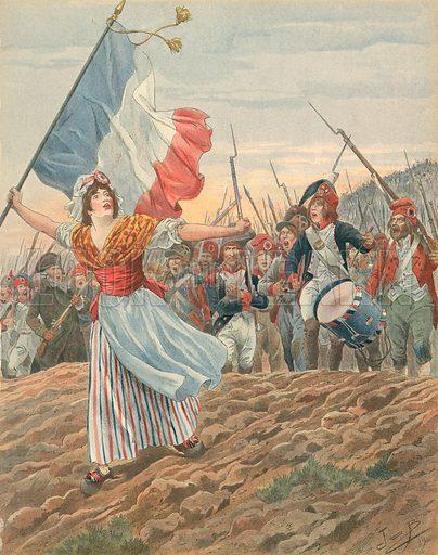 France - La Marseillaise.  Illustration for Les Chants Nationaux (Martin, c 1900).