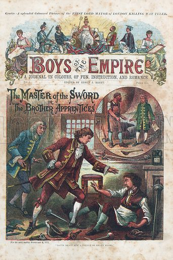 Front cover of first issue of Boys of the Empire (Edwin Brett, 6 February 1888).