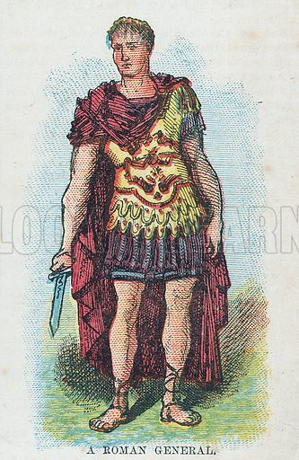 A Roman General.  Illustration for the weekly magazine Boys of the Empire (Edwin Brett, 1888).