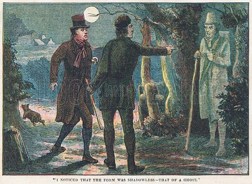 Ghost. Illustration for the weekly magazine Boys of the Empire (Edwin Brett, 1888).