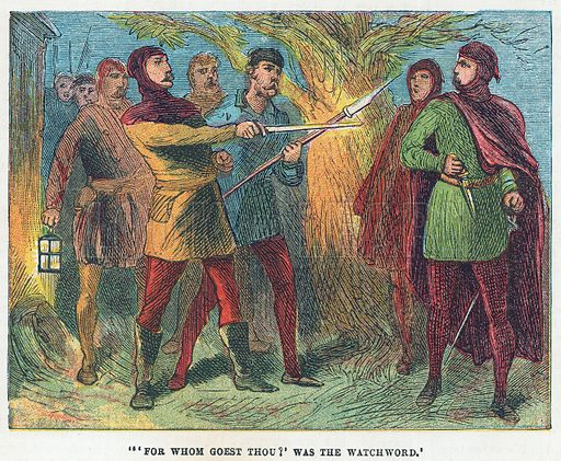 Scene from the Peasants Revolt. Illustration for the weekly magazine Boys of the Empire (Edwin Brett, 1888).