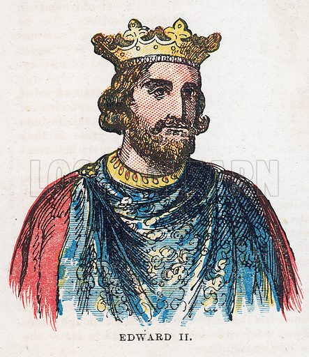 King Edward II.  Illustration for the weekly magazine Boys of the Empire (Edwin Brett, 1888).