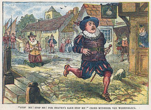 Mynheer von Wodenblock. Illustration for the weekly magazine Boys of the Empire (Edwin Brett, 1888).