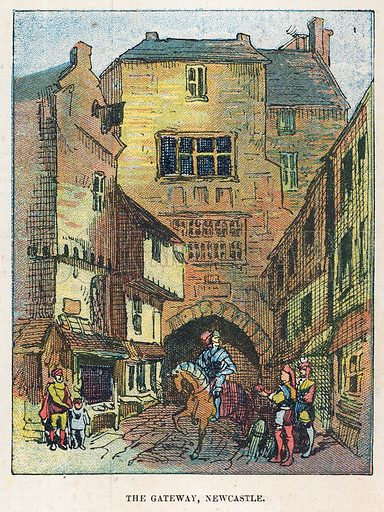 The Gateway, Newcastle.  Illustration for the weekly magazine Boys of the Empire (Edwin Brett, 1888).