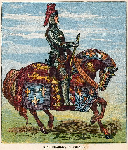 King Charles of France.  Illustration for the weekly magazine Boys of the Empire (Edwin Brett, 1888).