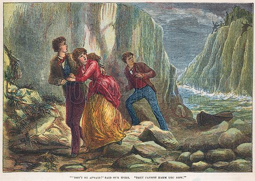 Rescue. Illustration for the weekly magazine Boys of the Empire (Edwin Brett, 1888).
