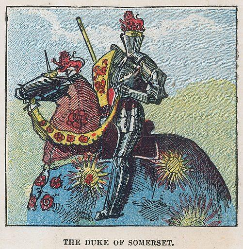 The Duke of Somerset. Illustration for the weekly magazine Boys of the Empire (Edwin Brett, 1888).