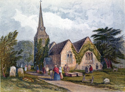 The Church. Illustration for Hymns and Pictures (SPCK, c1870).