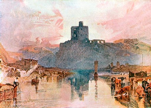 Norham Castle. Illustration from Lives of Great Men edited by Richard Wilson (Thomas Nelson, 1911).