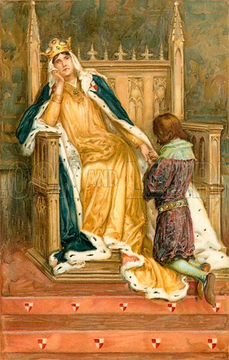 Constance. Illustration from Shakespeare's Heroines (Ernest Nister, c 1900).