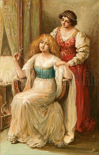 Desdemona. Illustration from Shakespeare's Heroines (Ernest Nister, c 1900).