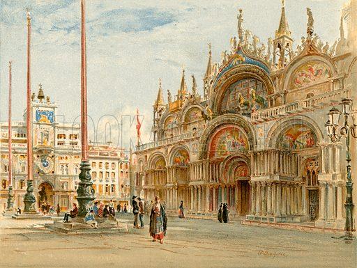 St Mark's, Venice. Illustration fom The New Popular Educator (Cassell, c 1890).