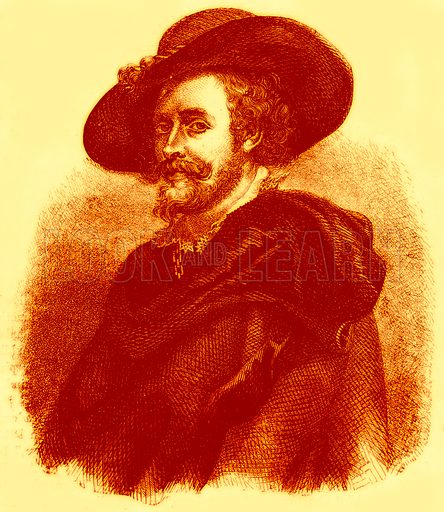 Peter Paul Rubens. From a Painting by himself. (Contributed to the Art Treasures Exhibition by her Majesty the Queen.) Illustration for John Cassell's Art Treasures Exhibition (W Kent, 1858).