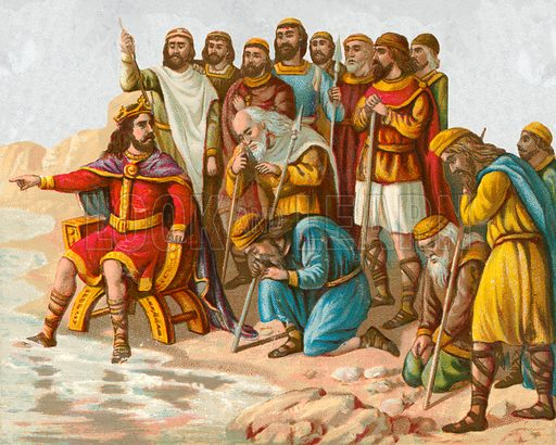 Canute the Great, reproving his courtiers