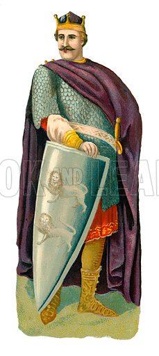 William the Conqueror. Victorian scrap, probably produced by Raphael Tuck.