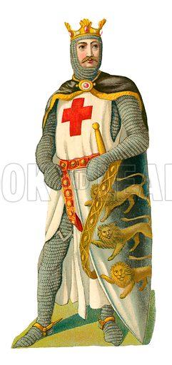 Richard Coeur de Lion. Victorian scrap, probably produced by Raphael Tuck.