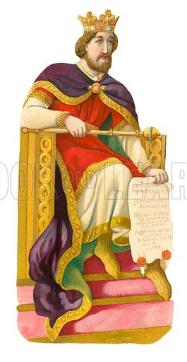 King John. Victorian scrap, probably produced by Raphael Tuck.