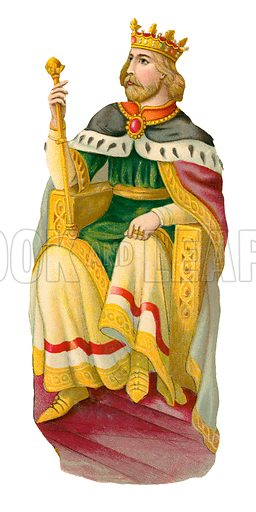 King Edward III. Victorian scrap, probably produced by Raphael Tuck.