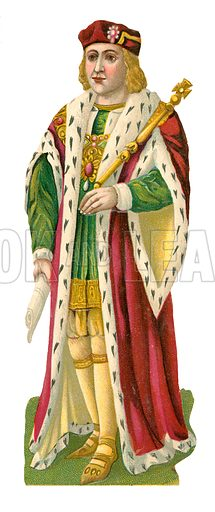King Henry VII.  Victorian scrap, probably produced by Raphael Tuck.
