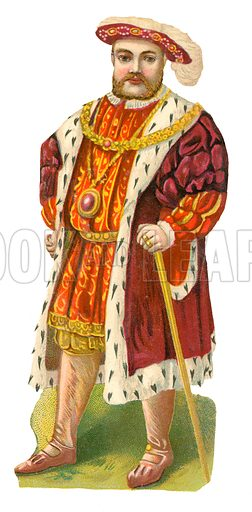 King Henry VIII. Victorian scrap, probably produced by Raphael Tuck.
