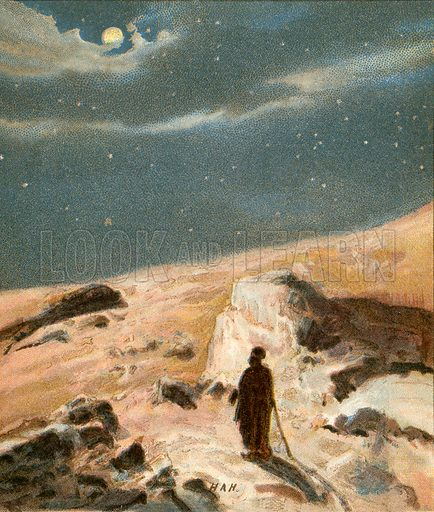 """""""The glory of the stars."""" Illustration from The Pictorial New Testament (Scripture Gift Mission, c 1915)."""