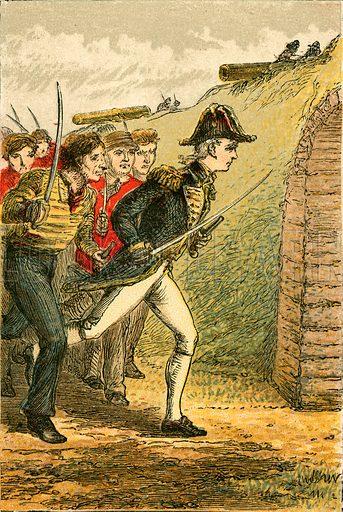 The capture of La Confiance. Illustration for Naval Enterprise (Frederick Warne, c 1880).