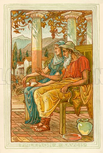 Philemon and Baucis. Illustration for A Wonder Book for Girls and Boys (Osgood, 1893).