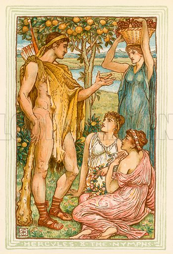 Hercules and the Nymphs. Illustration for A Wonder Book for Girls and Boys (Osgood, 1893).
