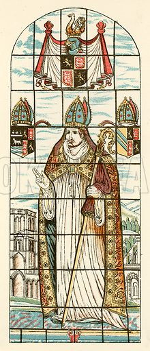 The last Abbot of Oseney. Illustration from With the King at Oxford by Alfred Church (Seeley, 1886).
