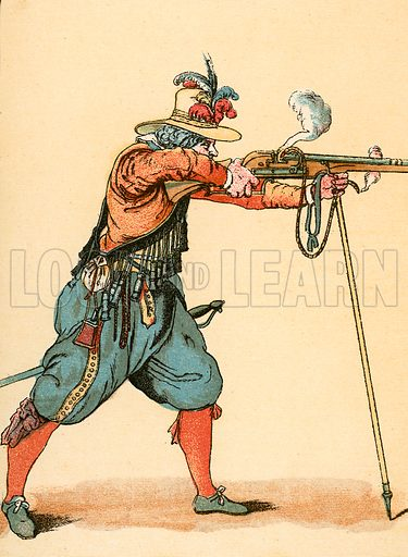 Royalist Musketeer,  picture, image, illustration