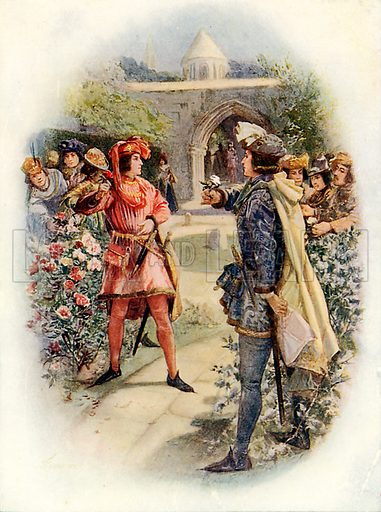 The red rose and the white. Illustration from Children's Stories from English History (Raphael Tuck, c 1910).
