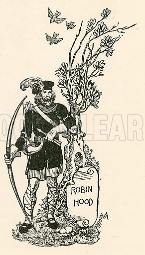 Robin Hood. Illustration from Children's Stories from English History (Raphael Tuck, c 1910).